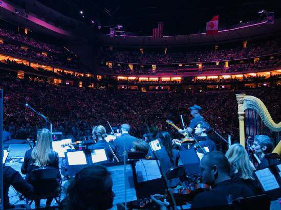 Orchestra for The Who concert